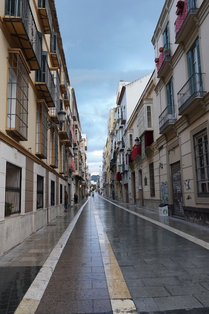 One of the main streets in Malaga.