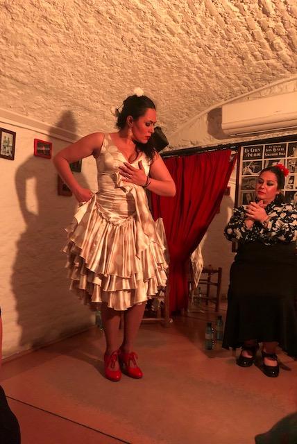Flamenco dancing in Granada.
