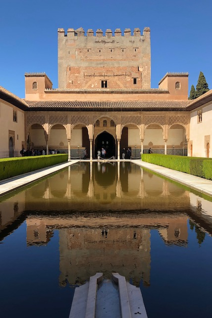 The reflecting pool in the Nasrid Palace in the Alhambra.