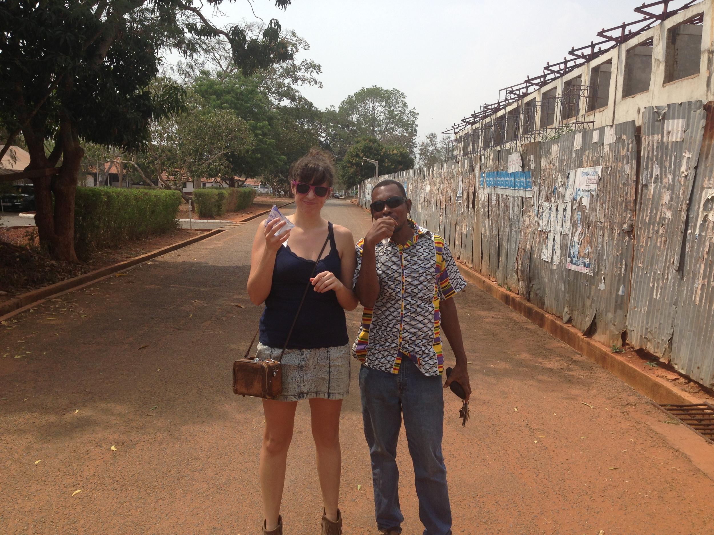 Kearney and Bebe at The University of Ghana