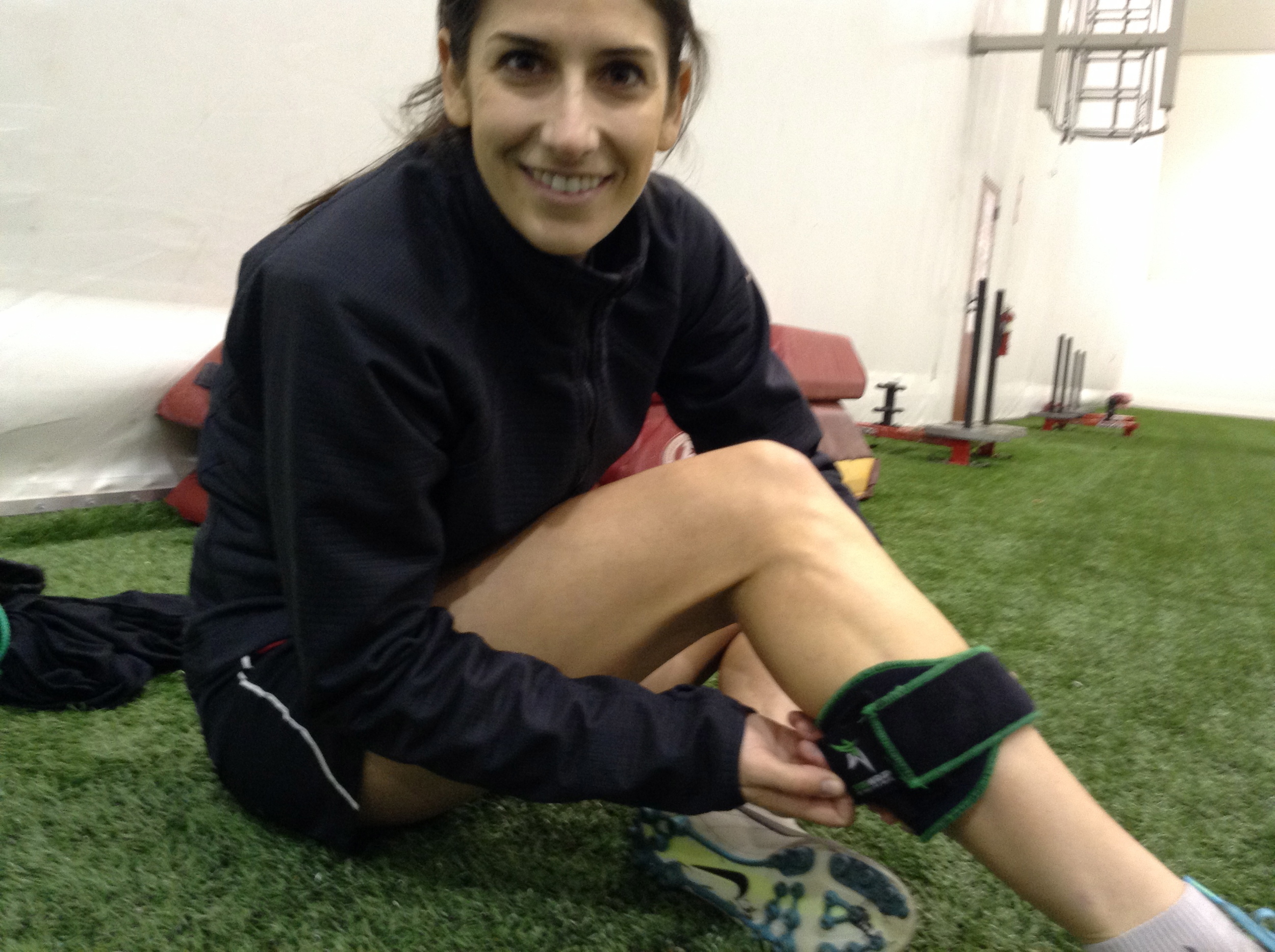 Yael Averbuch, plays for FC Kansas and the Women's National team uses the STARwrap with her intense training regiment.