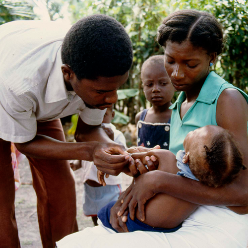 Vaccines and health education help prevent the spread of infectious diseases.