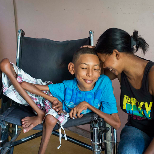 In the Dominican Republic, we equip mothers with exercises to practice with their children with disabilities.