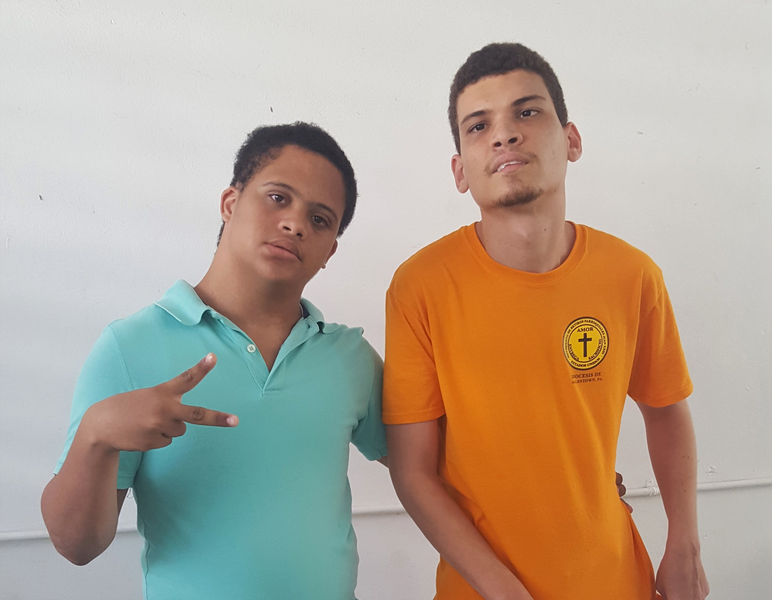 Nelbis and Cesar met in the adolescent program and quickly became best friends.