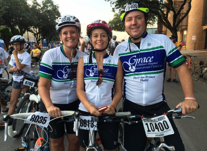 Race for Grace Teammates brave the Texas heat at Hotter 'N Hell 100 to raise awareness, funds for Grace Children's Hospital in Haiti.