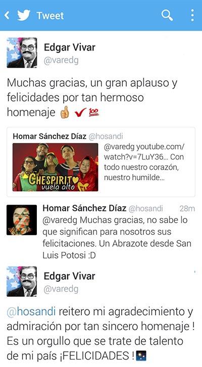 Tweets de Edgar Vivar