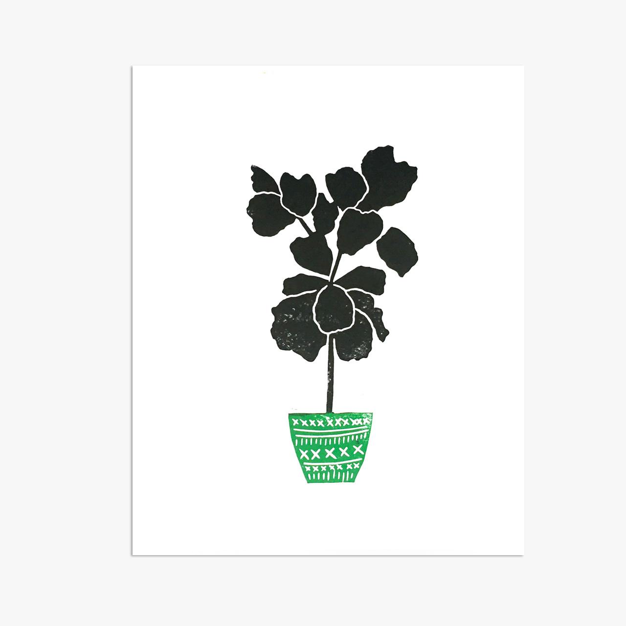 """Fiddle Leaf Fig Tree - 8x10"""""""