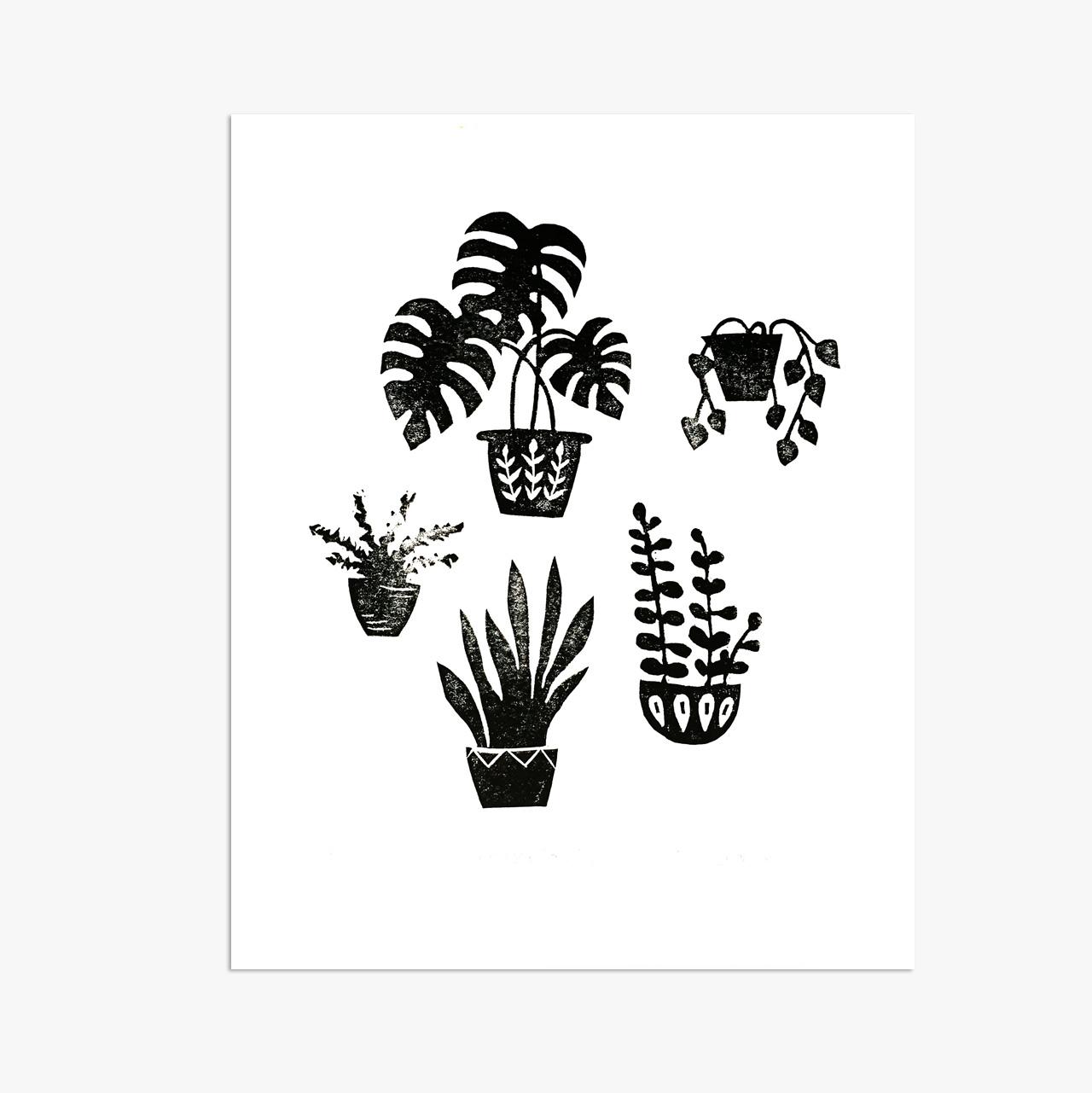 """Houseplants - 8x10"""""""