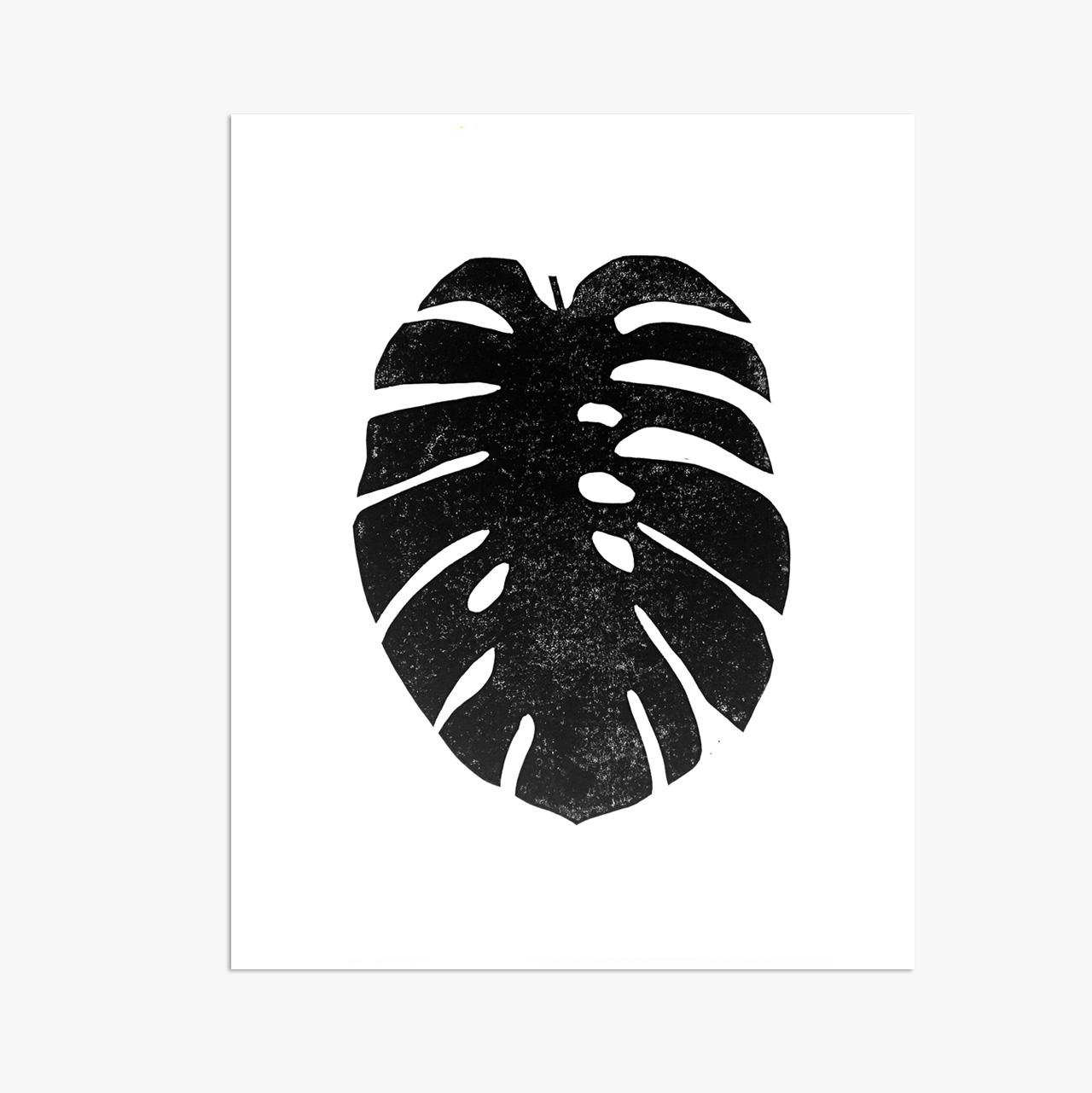 "Monstera Leaf - 11x14"""
