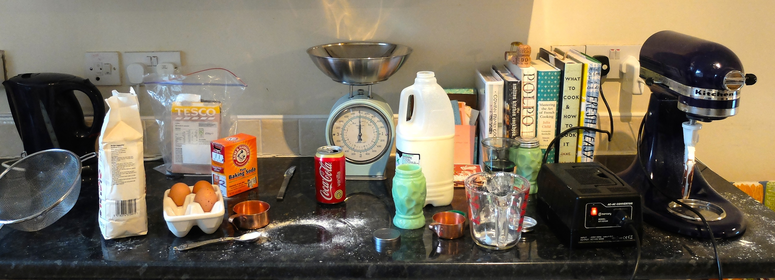 This is the giant mess i sometimes make when I cook. my mom, the neatest cook in the world, would be mortified.