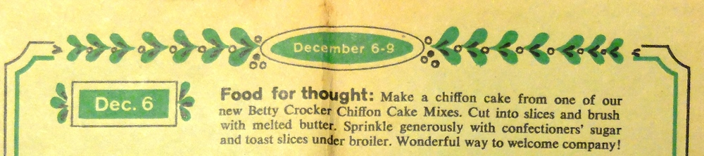 Betty Crocker Holiday Almanac 1959