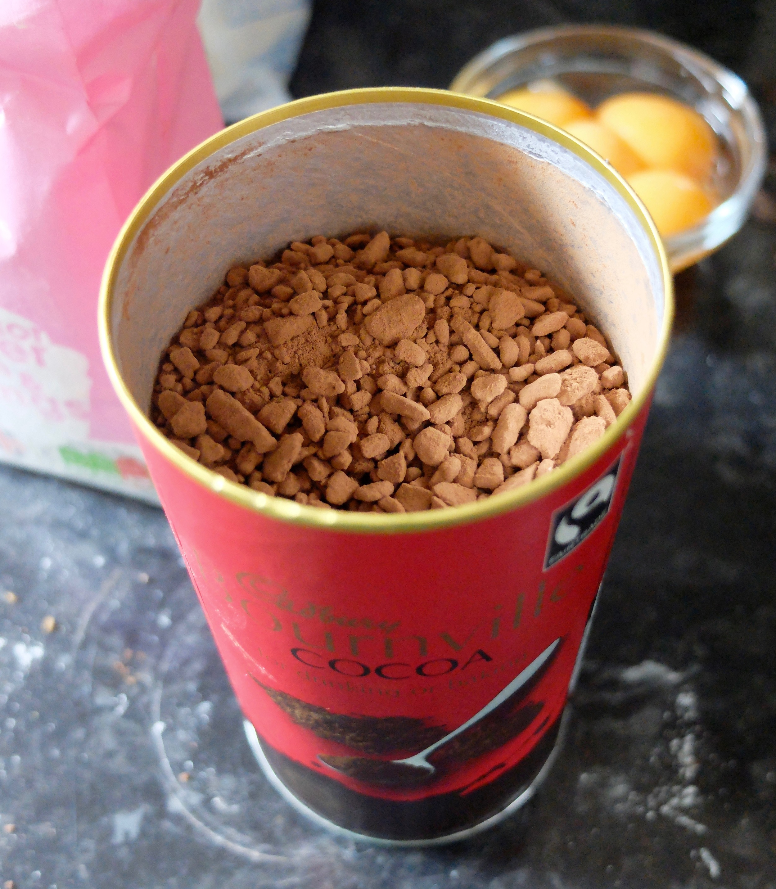 I have a really hard time finding cocoa in Scotland, but if yours looks like mine, sift it too!