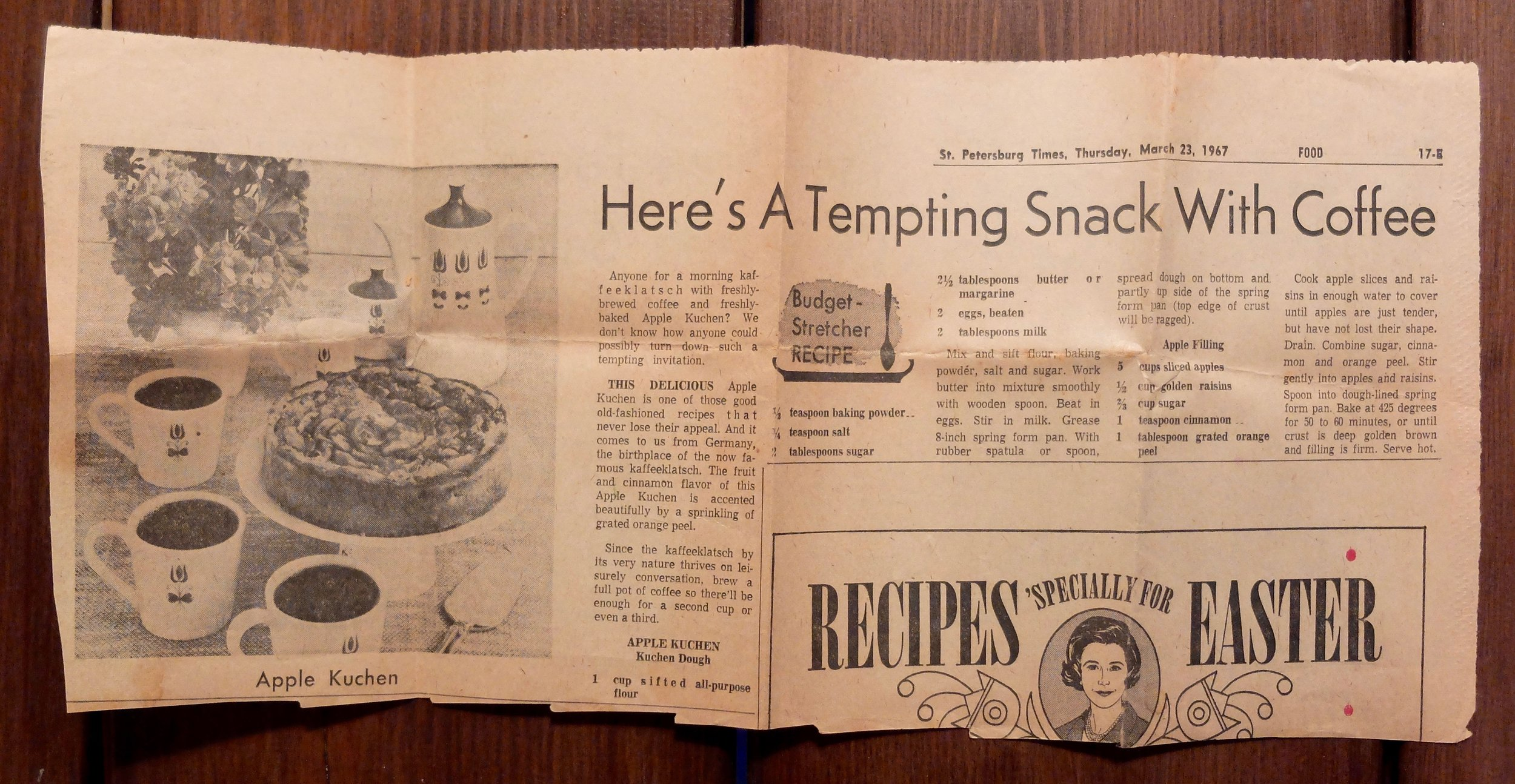 After making a Load of newspaper recipes from this box, it's a little embarrassing how fast i was able to identify the woman on the bottom right as Betty crocker.
