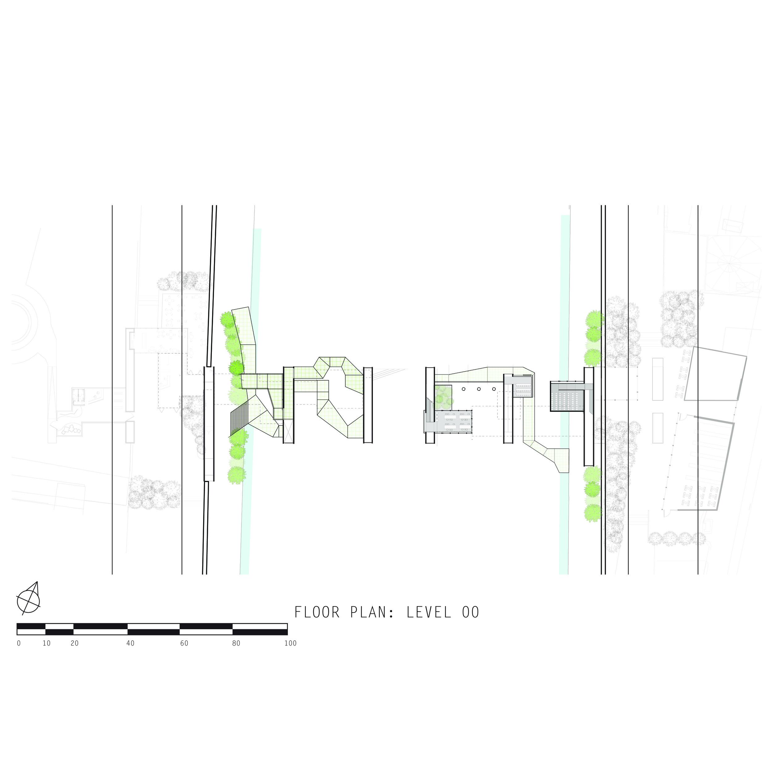 floor plan: level 00 (river walks)