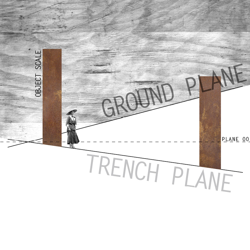 revealing the trench plane