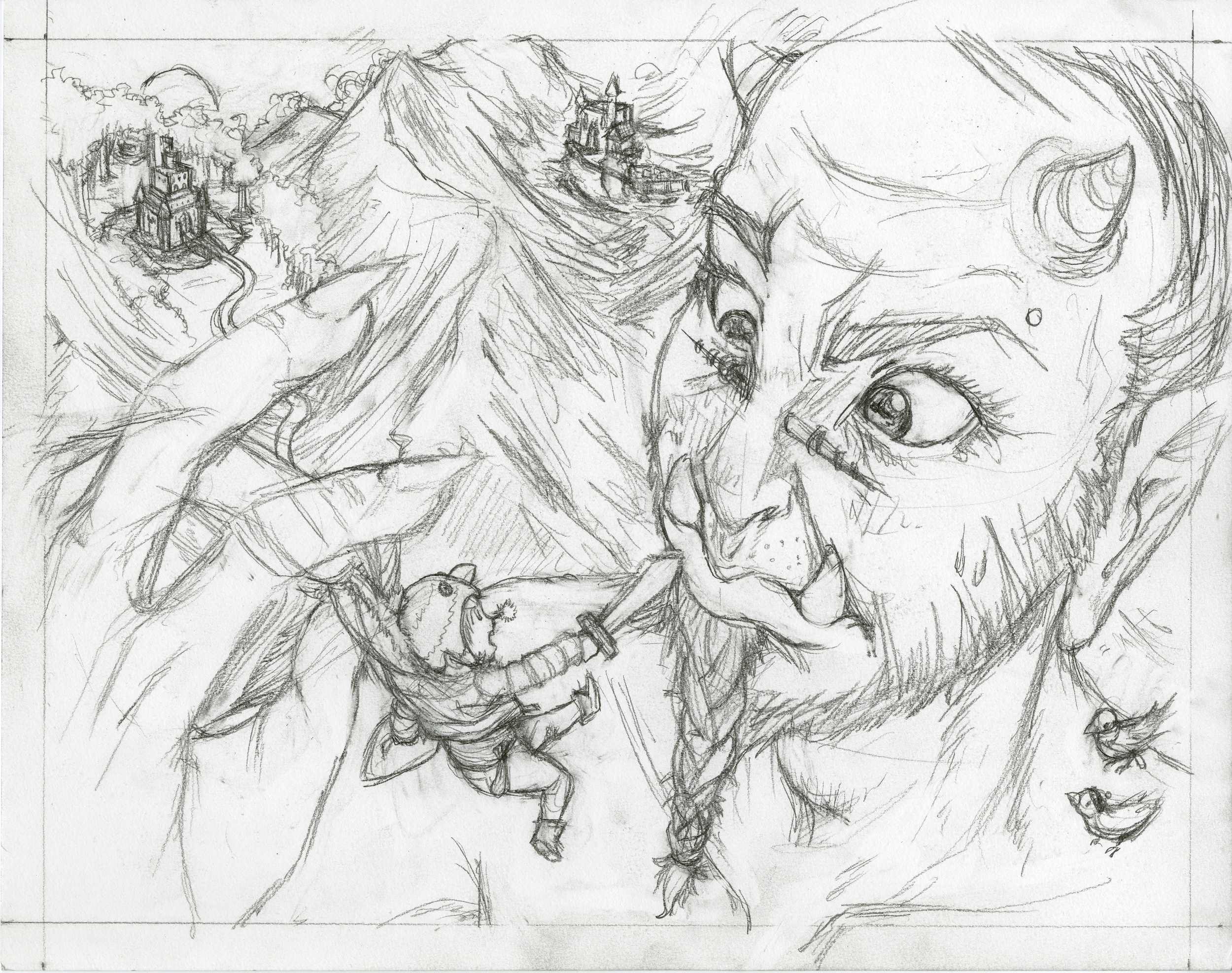 """The Little Ogre Faun Giant"" (process)"