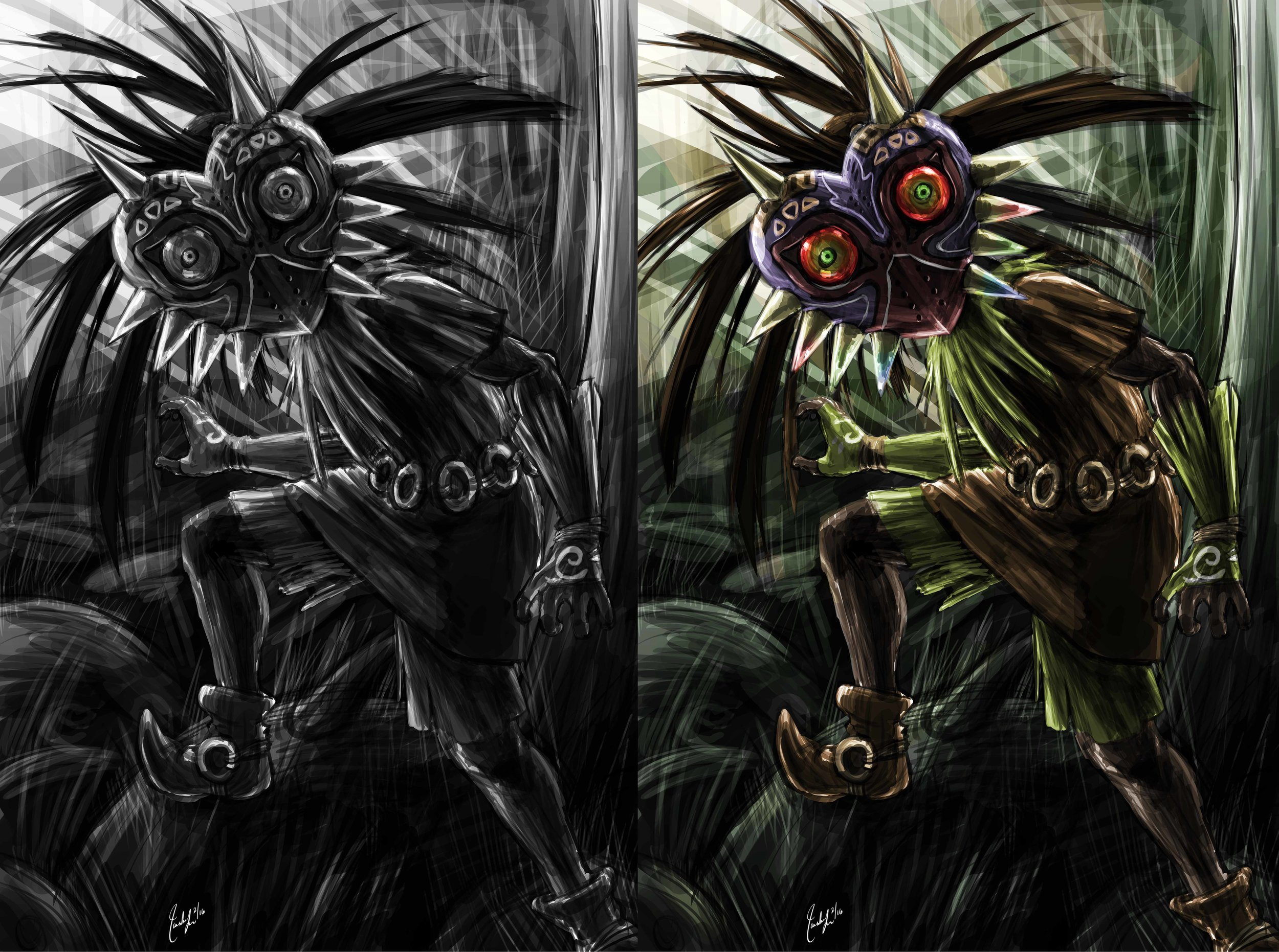The Legend of Zelda - Skull Kid Encounter (FOR SALE)