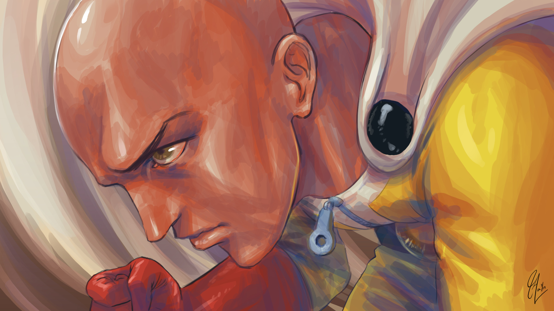 One-Punch Man - One Paunch!! (Fanart)
