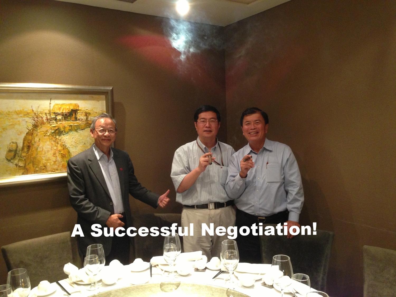 David Wu at a successful negotiation