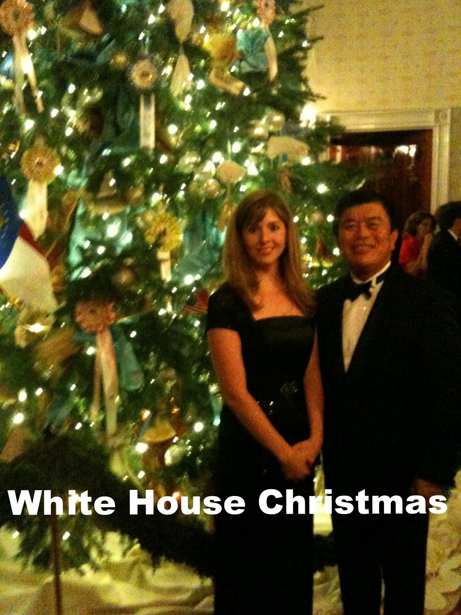 David Wu at a White House Christmas