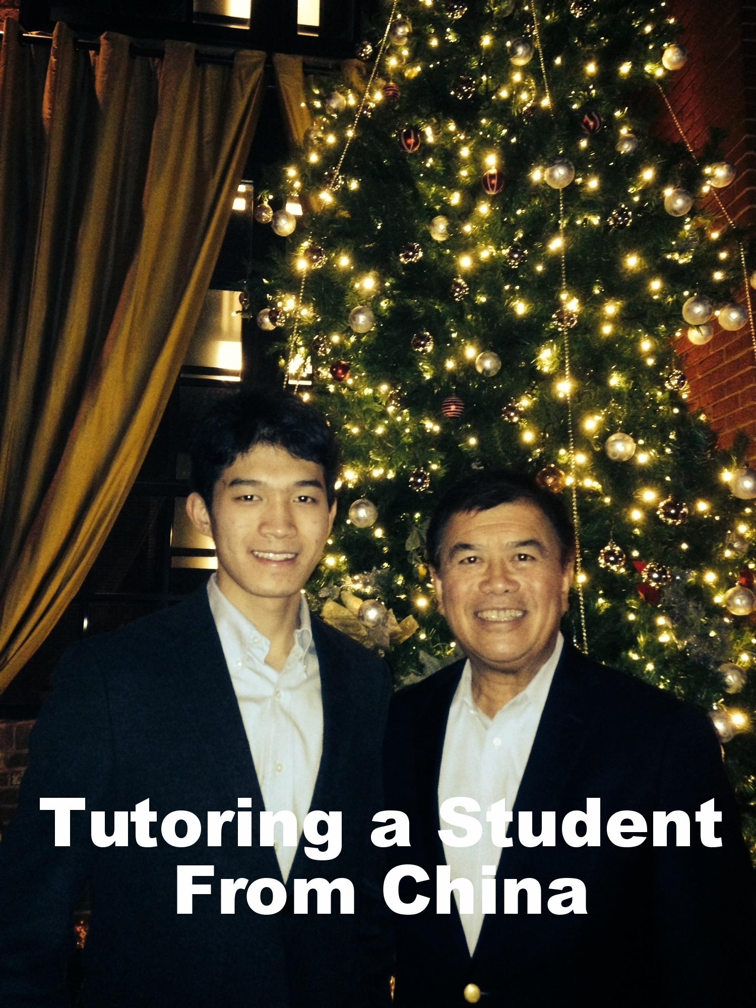 David Wu Tutoring a Student From China