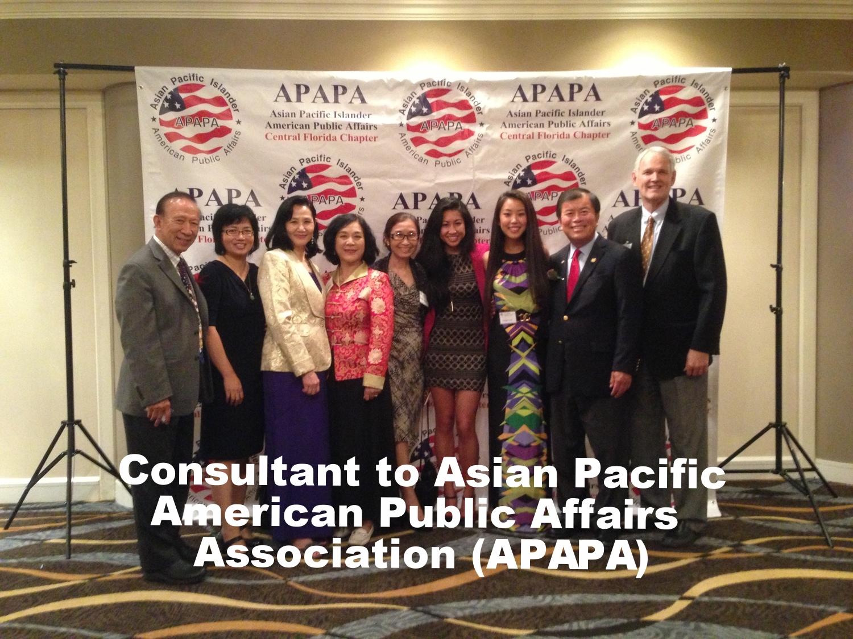 David Wu - Consultant to Asian Pacific American Public Affairs Association (APAPA)