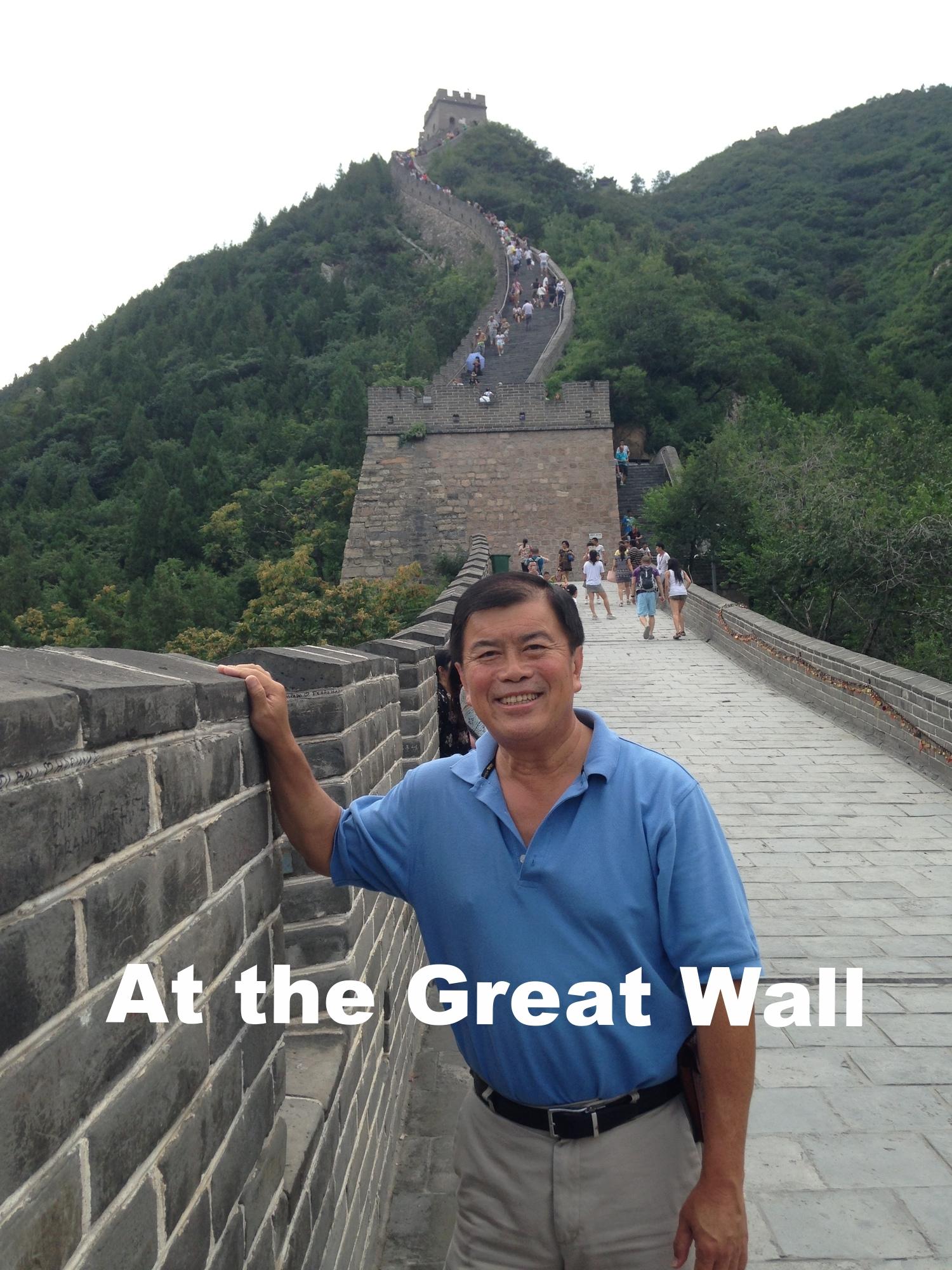 David Wu at the Great Wall