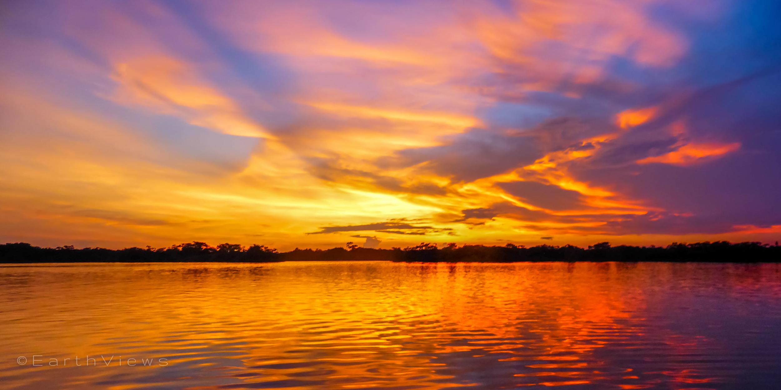 A beautiful Amazon sunset.