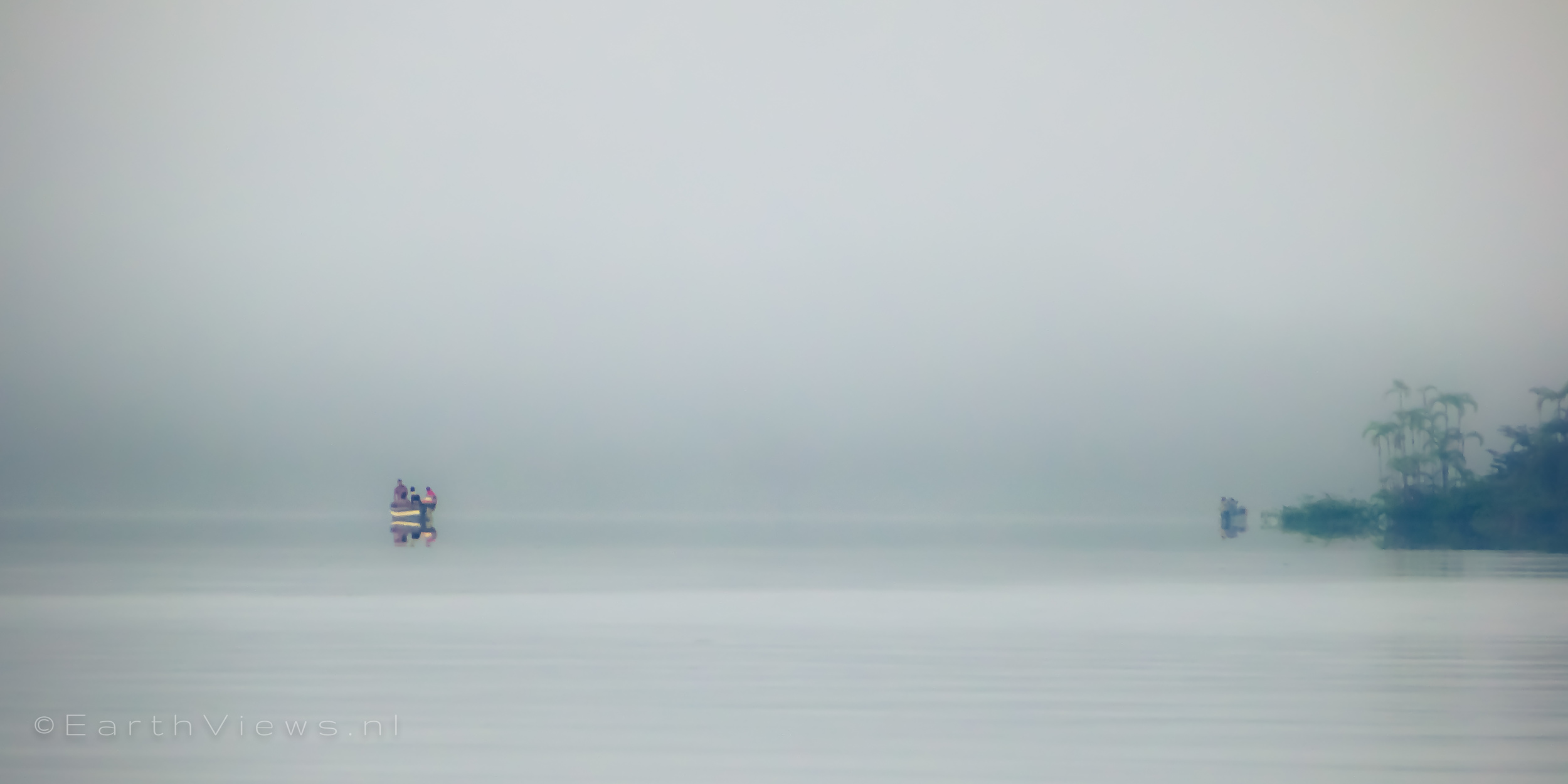 A couple of other boats were on the water early in the morning.