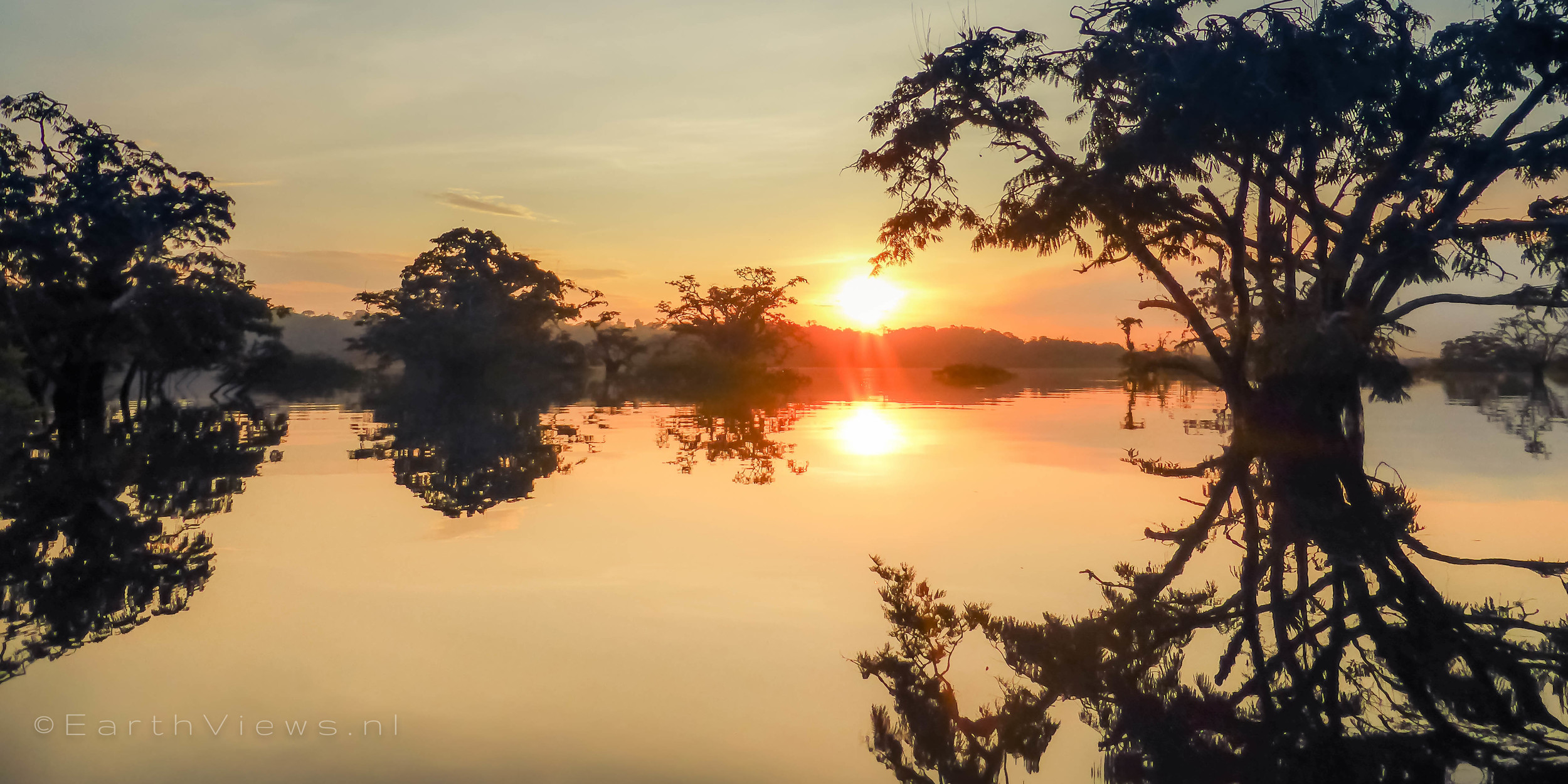 An Amazon morning just after sunrise at 5 a.m.