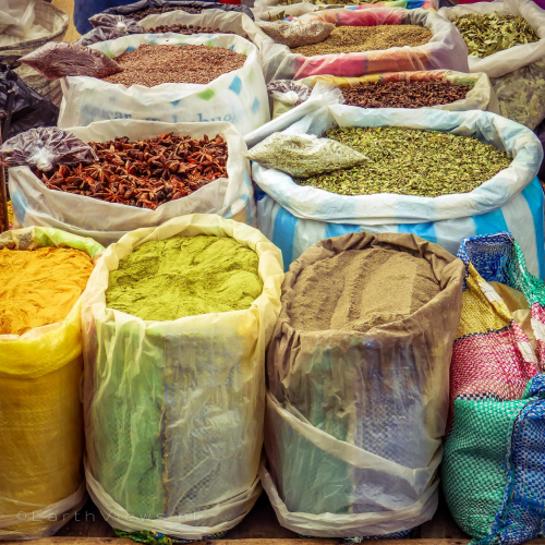 Spices on the Otavalo market.