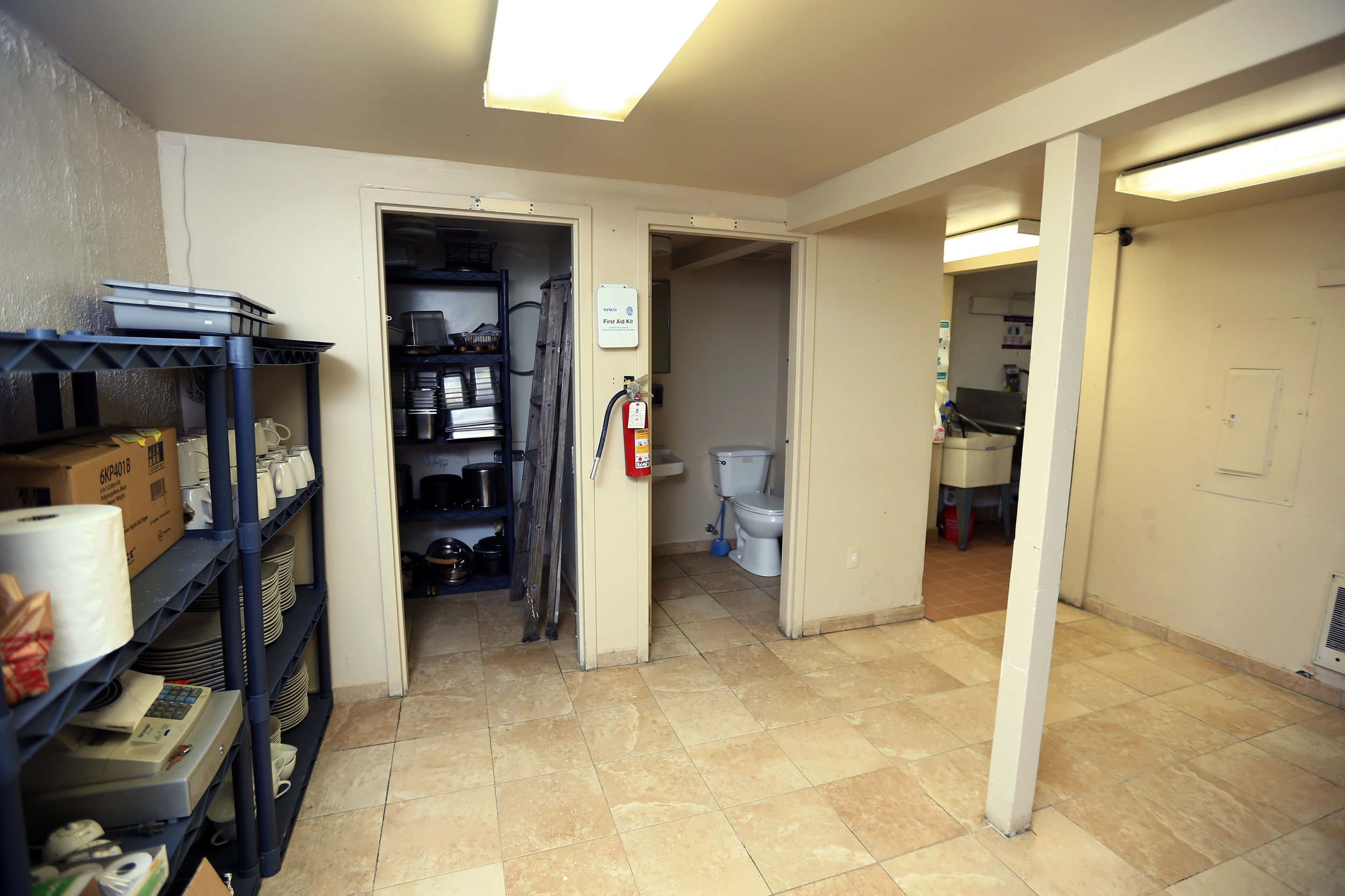 Lower level storage area and employee restroom.jpg
