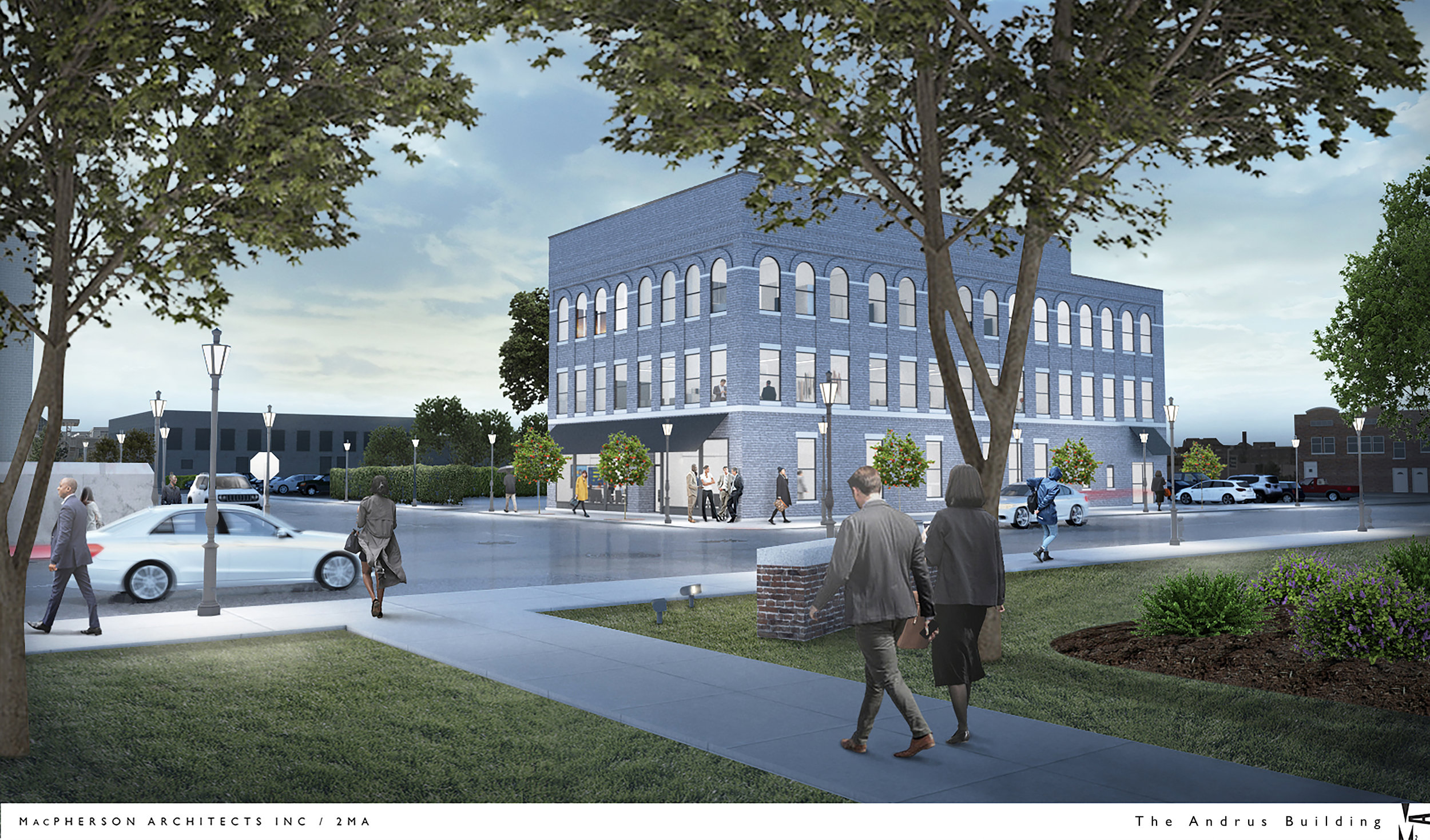 Architectural Rendering of Office Space & Retail Site For Lease -The Andrus Builind - 443 10th St, Toledo OH 43604