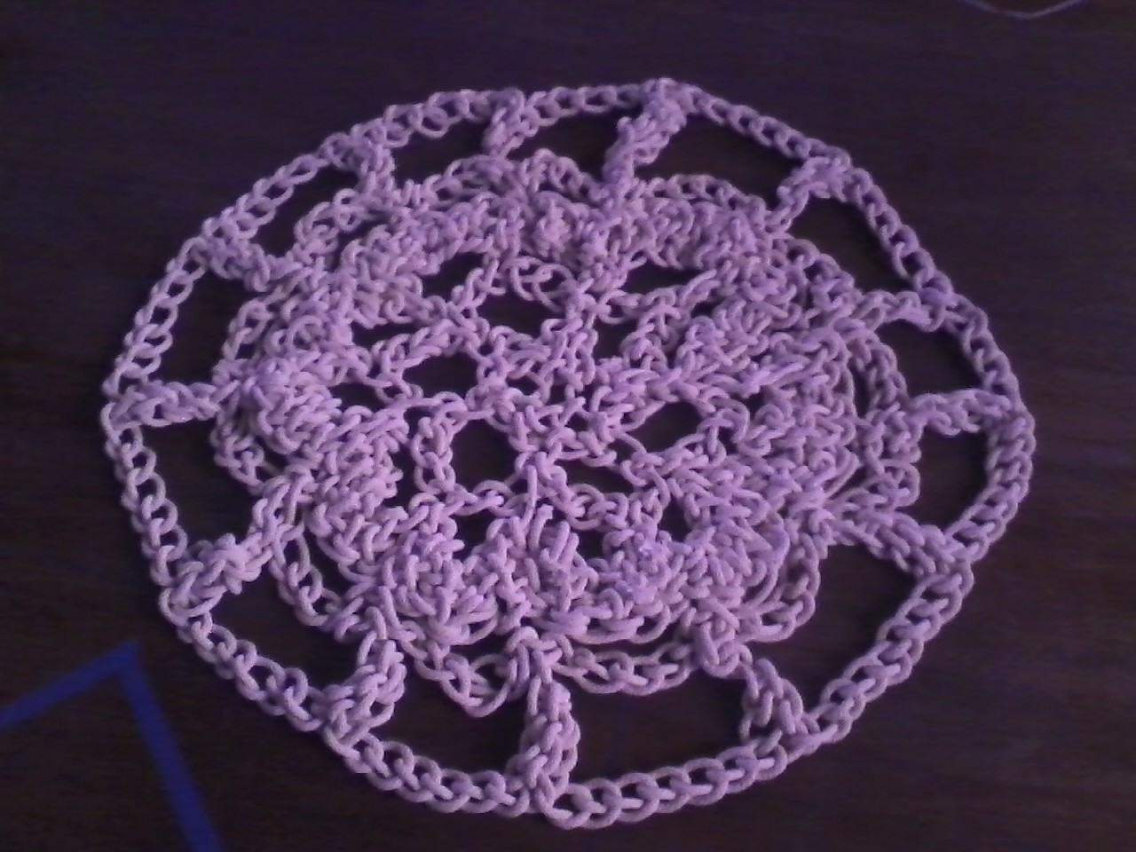A Giant Doily - Made at 100W from 400 Feet of Rope.