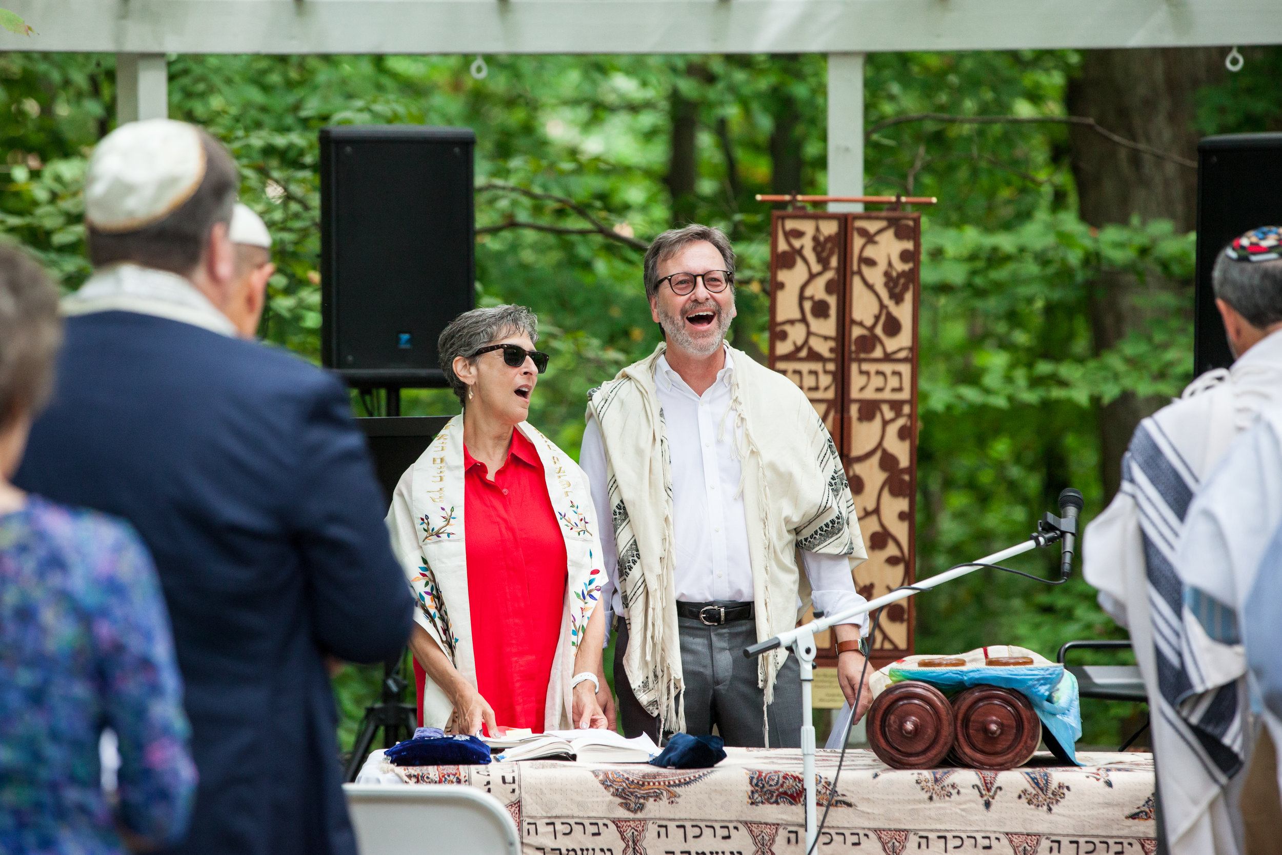 Rabbi JoHanna Potts and Rabbi Evan Krame