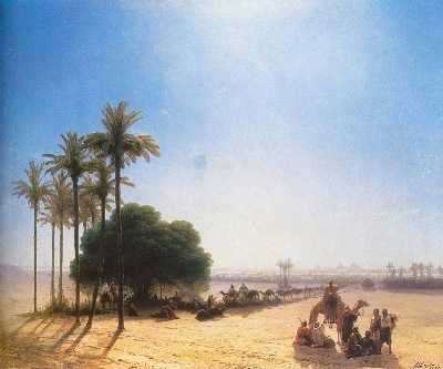 Image Source:  Caravan in the Oasis by Ivan Aivazovsky