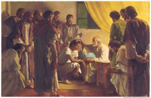 """""""Jacob Blessing His 12 Sons"""" by Harry Anderson"""