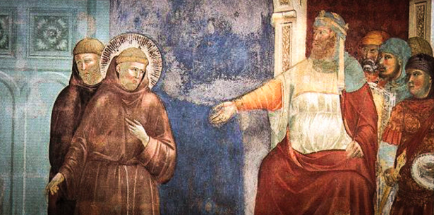 """Source: """"Saint Francis and the Sultan"""" by Giotto di Bondone"""