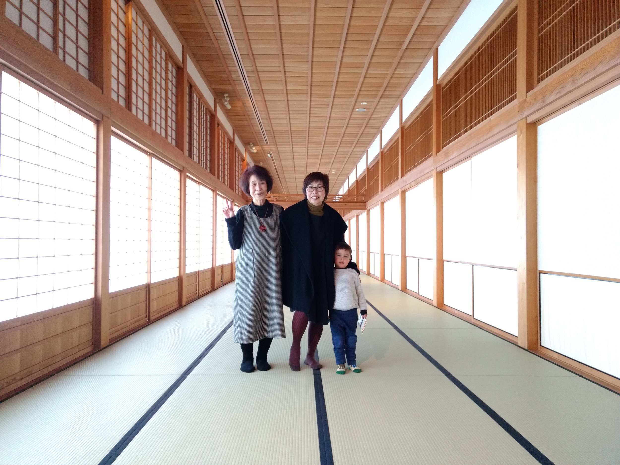 Saga Castle (Sachiko in the left)