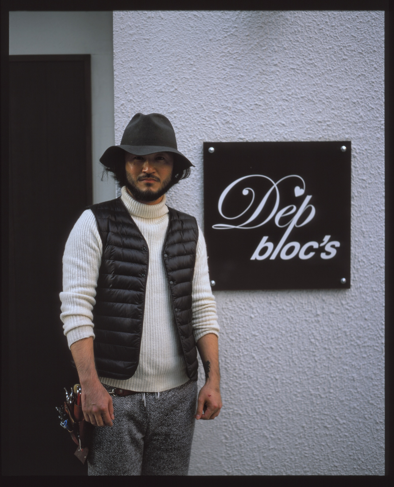 Fukumoto san of Dep bloc's, Fukuoka.