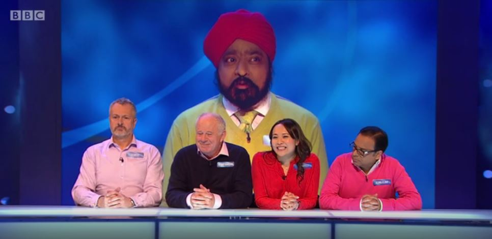 Tony stars in the latest episode of 'Celebrity Eggheads', with a team from Saturday Kitchen and The Great British Menu