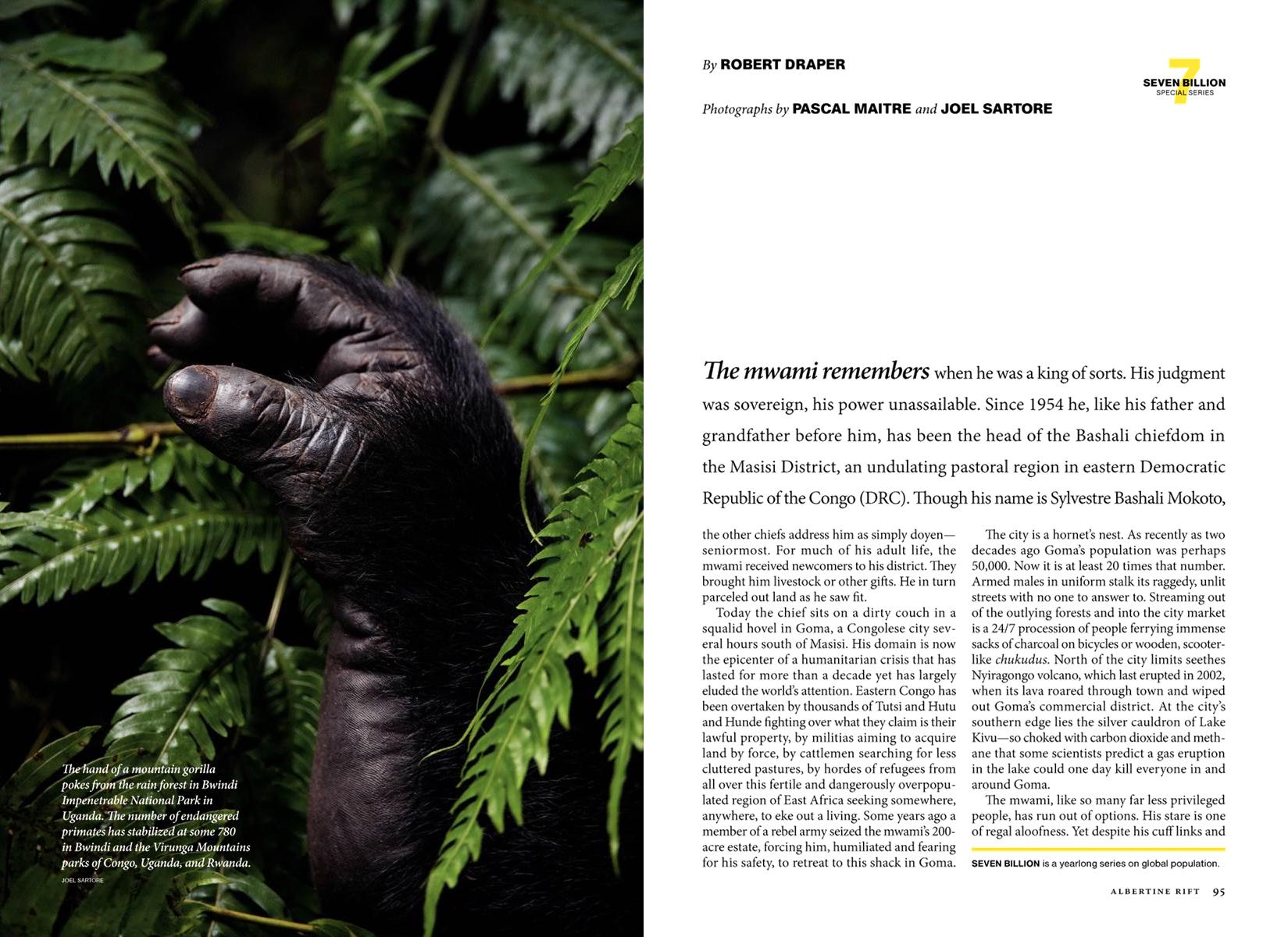 National Geographic,  November 2011, Photo by Joel Sartore