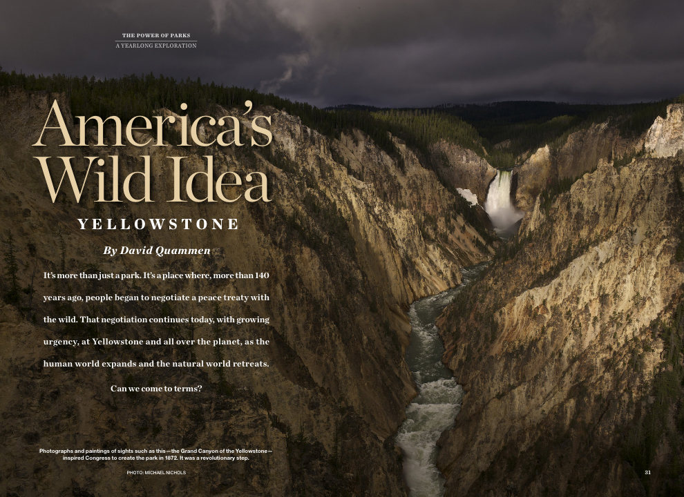 National Geographic,  May 2016, photo by Michael Nichols