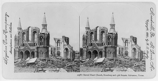 Sacred Heart Church after the Hurricane of 1900.