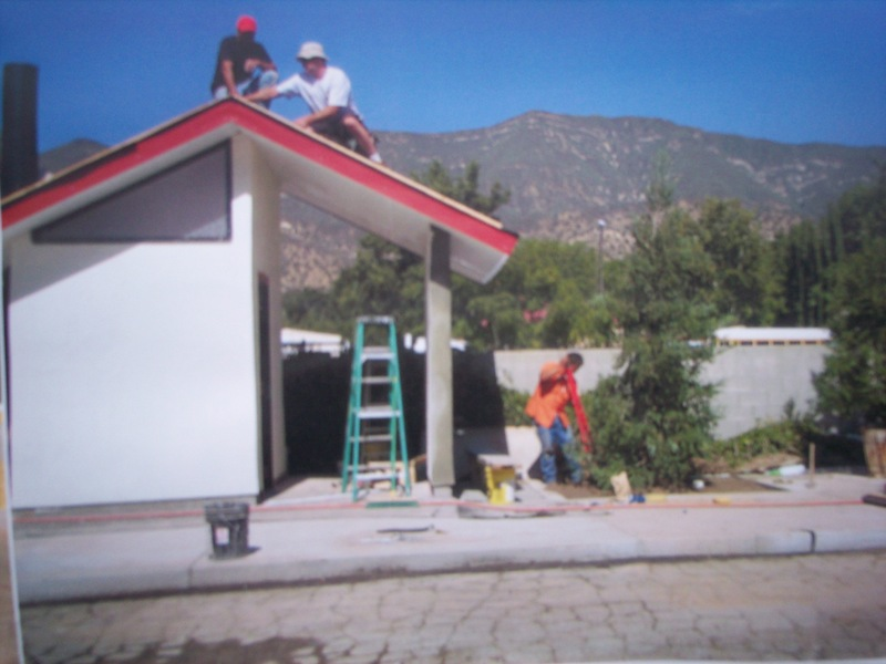 Alan Sloan donating a roof to the Ojai Skate Park