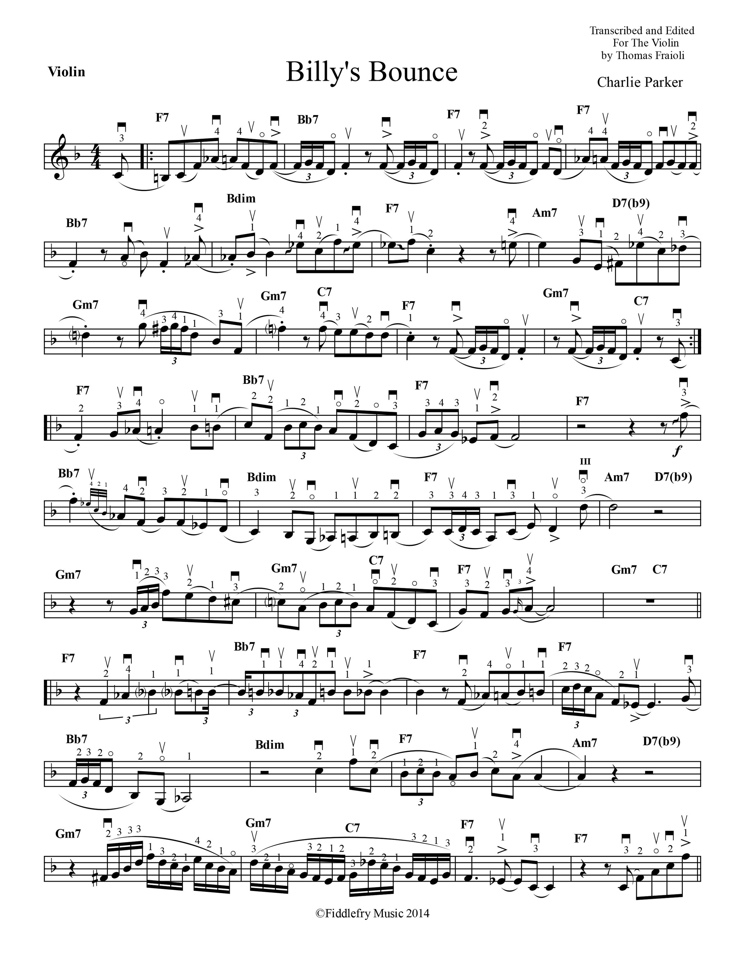 Charlie Parker Fiddlefry Music
