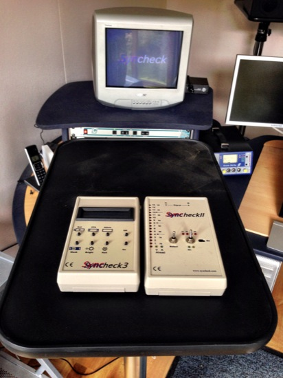 photo of Pharaoh Audio's Syncheck 2 & 3 for the Pro Tools HD Video Performance tests
