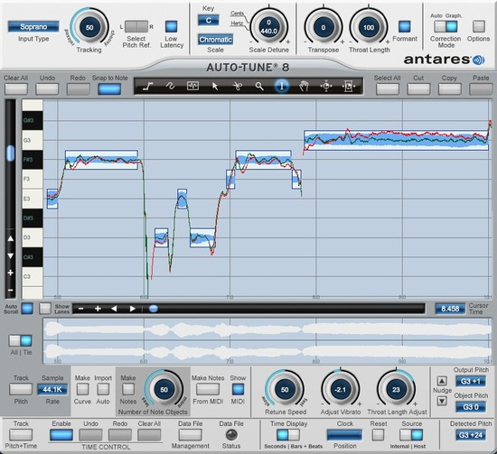 Antares Release Auto-Tune 8 With Flex-Tune, Real Time Pitch