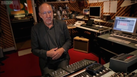 Pete Townshend using Pro Tools