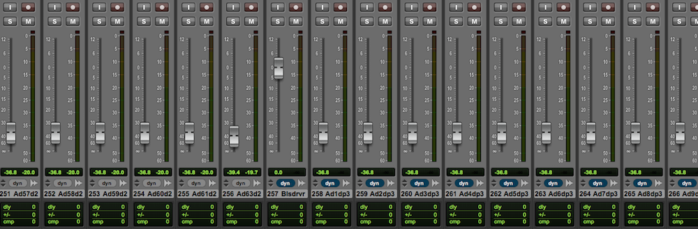Track 257 is the first to exceed the 256 voice limit on this system.